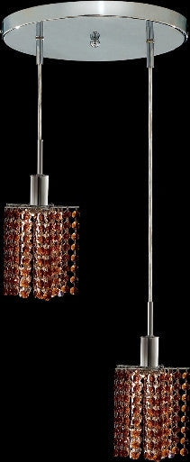 C121-1282D-R-P-TO/RC By Elegant Lighting Mini Collection 2 Lights Pendant Chrome Finish