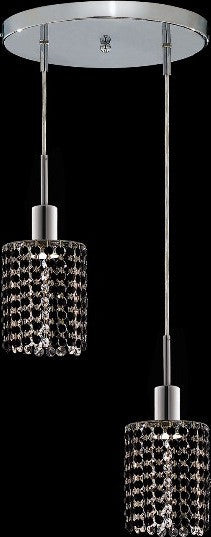 C121-1282D-R-R-JT/RC By Elegant Lighting Mini Collection 2 Lights Pendant Chrome Finish