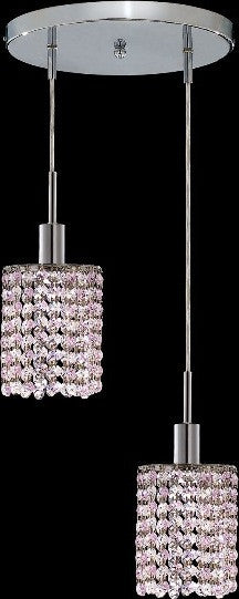 C121-1282D-R-R-RO/RC By Elegant Lighting Mini Collection 2 Lights Pendant Chrome Finish