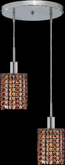 C121-1282D-R-R-TO/RC By Elegant Lighting Mini Collection 2 Lights Pendant Chrome Finish