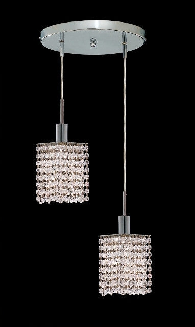 ZC121-1282D-R-S-CL/EC By Regency Lighting Mini Collection 2 Lights Pendant Chrome Finish