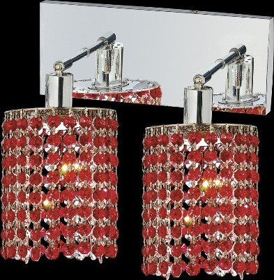 C121-1282W-O-E-BO/RC By Elegant Lighting Mini Collection 2 Lights Wall Sconce Chrome Finish