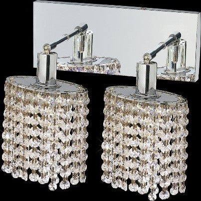 C121-1282W-O-E-CL/RC By Elegant Lighting Mini Collection 2 Lights Wall Sconce Chrome Finish