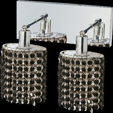 C121-1282W-O-E-JT/RC By Elegant Lighting Mini Collection 2 Lights Wall Sconce Chrome Finish