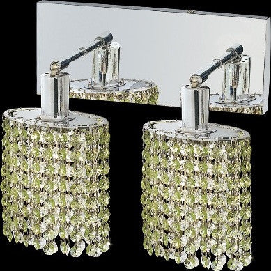 C121-1282W-O-E-LP/RC By Elegant Lighting Mini Collection 2 Lights Wall Sconce Chrome Finish