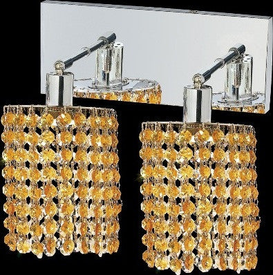 C121-1282W-O-E-LT/RC By Elegant Lighting Mini Collection 2 Lights Wall Sconce Chrome Finish