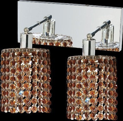 C121-1282W-O-E-TO/RC By Elegant Lighting Mini Collection 2 Lights Wall Sconce Chrome Finish