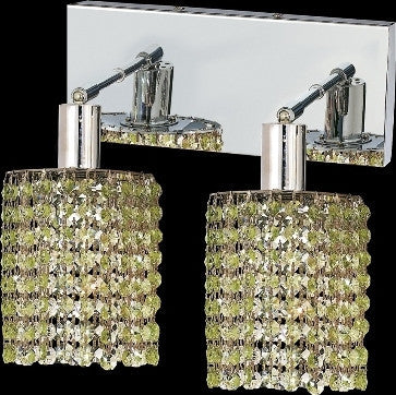 C121-1282W-O-R-LP/RC By Elegant Lighting Mini Collection 2 Lights Wall Sconce Chrome Finish