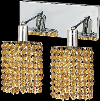 C121-1282W-O-R-LT/RC By Elegant Lighting Mini Collection 2 Lights Wall Sconce Chrome Finish