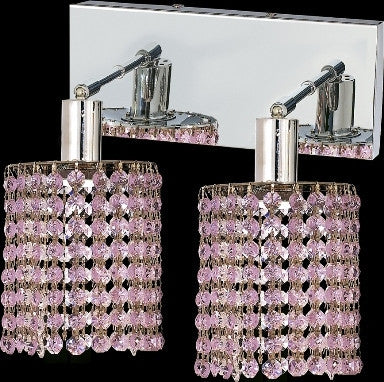 C121-1282W-O-R-RO/RC By Elegant Lighting Mini Collection 2 Lights Wall Sconce Chrome Finish
