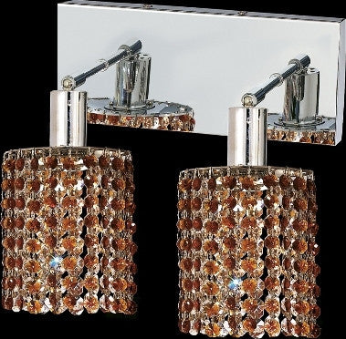 C121-1282W-O-R-TO/RC By Elegant Lighting Mini Collection 2 Lights Wall Sconce Chrome Finish