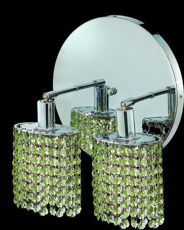 C121-1282W-R-E-LP/RC By Elegant Lighting Mini Collection 2 Lights Wall Sconce Chrome Finish