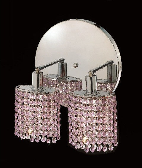 C121-1282W-R-E-RO/RC By Elegant Lighting Mini Collection 2 Lights Wall Sconce Chrome Finish