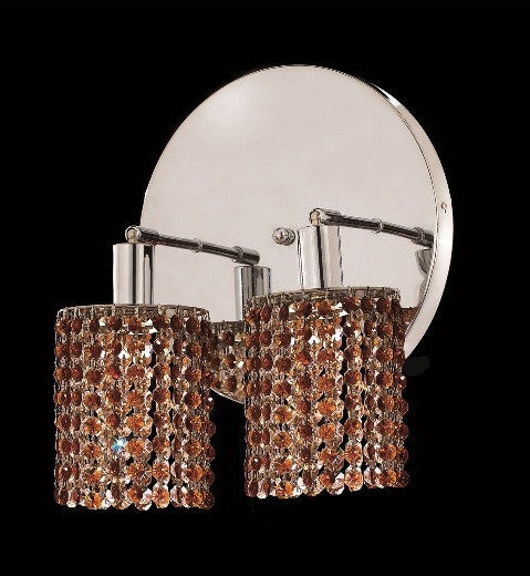 C121-1282W-R-E-TO/RC By Elegant Lighting Mini Collection 2 Lights Wall Sconce Chrome Finish