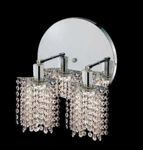 C121-1282W-R-P-CL/RC By Elegant Lighting Mini Collection 2 Lights Wall Sconce Chrome Finish