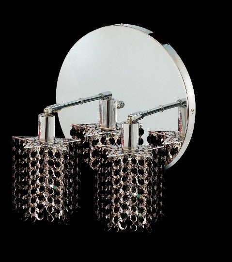 C121-1282W-R-P-JT/RC By Elegant Lighting Mini Collection 2 Lights Wall Sconce Chrome Finish