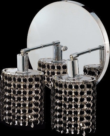 C121-1282W-R-R-JT/RC By Elegant Lighting Mini Collection 2 Lights Wall Sconce Chrome Finish