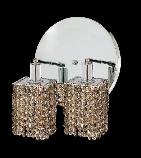 C121-1282W-R-S-GT/RC By Elegant Lighting Mini Collection 2 Lights Wall Sconce Chrome Finish