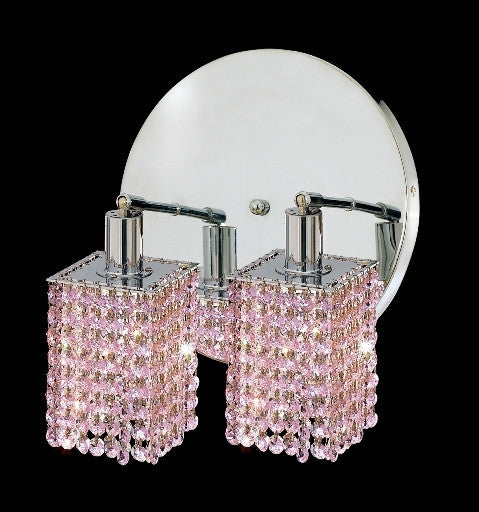 C121-1282W-R-S-RO/RC By Elegant Lighting Mini Collection 2 Lights Wall Sconce Chrome Finish