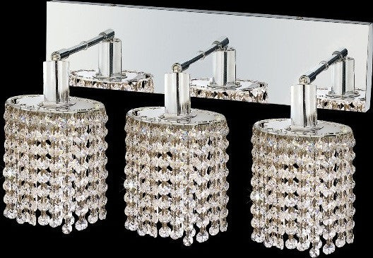 C121-1283W-O-E-CL/RC By Elegant Lighting Mini Collection 3 Lights Wall Sconce Chrome Finish
