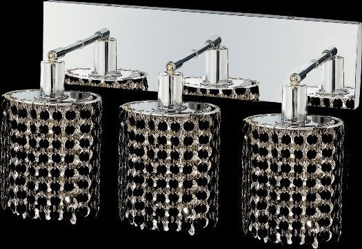 C121-1283W-O-E-JT/RC By Elegant Lighting Mini Collection 3 Lights Wall Sconce Chrome Finish