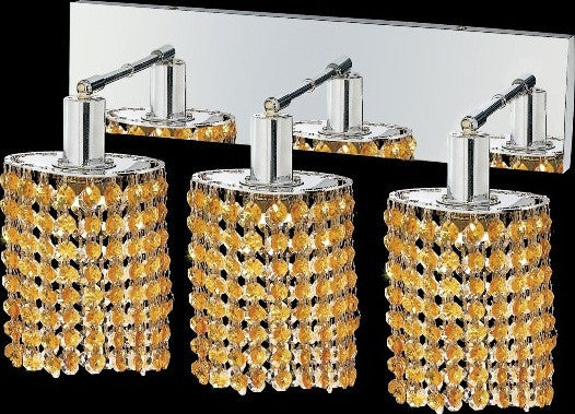 C121-1283W-O-E-LT/RC By Elegant Lighting Mini Collection 3 Lights Wall Sconce Chrome Finish