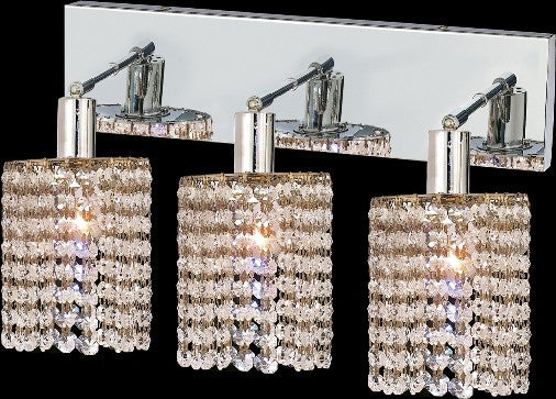ZC121-1283W-O-R-CL/EC By Regency Lighting Mini Collection 3 Lights Wall Sconce Chrome Finish