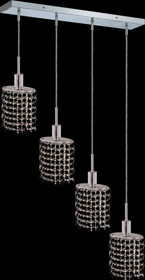 C121-1284D-O-E-JT/RC By Elegant Lighting Mini Collection 4 Lights Pendant Chrome Finish