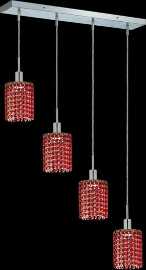 C121-1284D-O-R-BO/RC By Elegant Lighting Mini Collection 4 Lights Pendant Chrome Finish