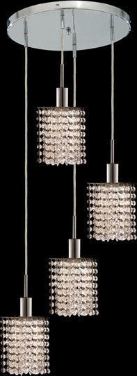C121-1284D-R-P-CL/RC By Elegant Lighting Mini Collection 4 Lights Pendant Chrome Finish