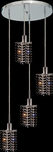 C121-1284D-R-P-JT/RC By Elegant Lighting Mini Collection 4 Lights Pendant Chrome Finish
