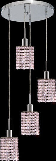 C121-1284D-R-R-RO/RC By Elegant Lighting Mini Collection 4 Lights Pendant Chrome Finish