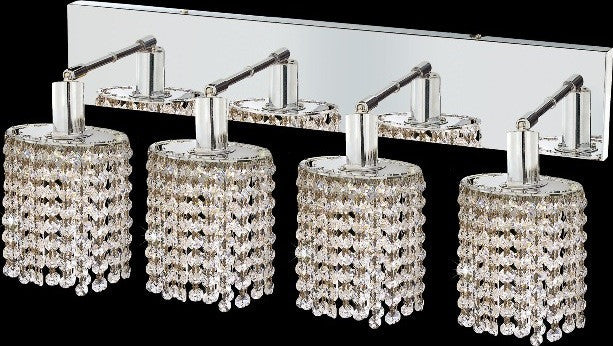 ZC121-1284W-O-E-CL/EC By Regency Lighting Mini Collection 4 Lights Wall Sconce Chrome Finish