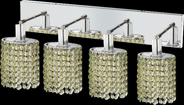 C121-1284W-O-E-LP/RC By Elegant Lighting Mini Collection 4 Lights Wall Sconce Chrome Finish