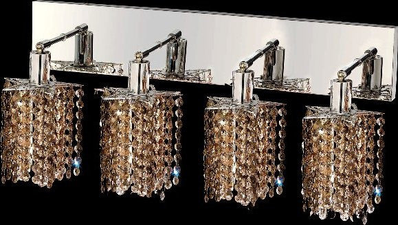 C121-1284W-O-P-GT/RC By Elegant Lighting Mini Collection 4 Lights Wall Sconce Chrome Finish