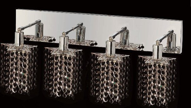 C121-1284W-O-P-JT/RC By Elegant Lighting Mini Collection 4 Lights Wall Sconce Chrome Finish