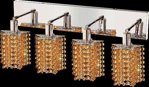 C121-1284W-O-P-LT/RC By Elegant Lighting Mini Collection 4 Lights Wall Sconce Chrome Finish