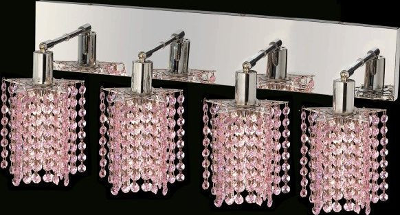 C121-1284W-O-P-RO/RC By Elegant Lighting Mini Collection 4 Lights Wall Sconce Chrome Finish