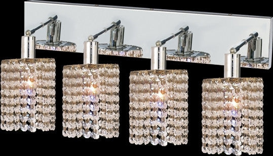 C121-1284W-O-R-CL/RC By Elegant Lighting Mini Collection 4 Lights Wall Sconce Chrome Finish