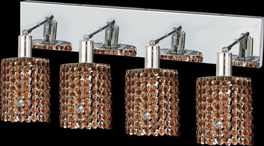 C121-1284W-O-R-TO/RC By Elegant Lighting Mini Collection 4 Lights Wall Sconce Chrome Finish