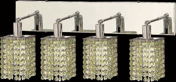C121-1284W-O-S-LP/RC By Elegant Lighting Mini Collection 4 Lights Wall Sconce Chrome Finish