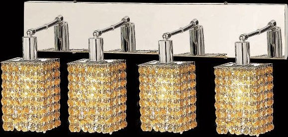 C121-1284W-O-S-LT/RC By Elegant Lighting Mini Collection 4 Lights Wall Sconce Chrome Finish
