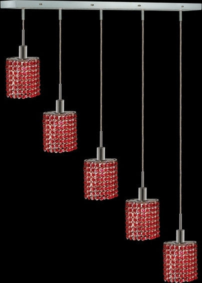 C121-1285D-O-E-BO/RC By Elegant Lighting Mini Collection 4 Lights Pendant Chrome Finish