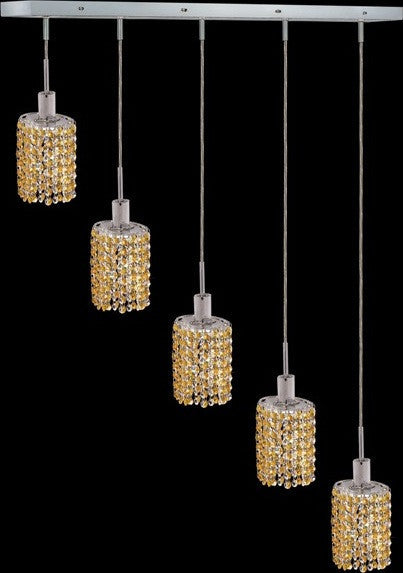 C121-1285D-O-E-LT/RC By Elegant Lighting Mini Collection 4 Lights Pendant Chrome Finish