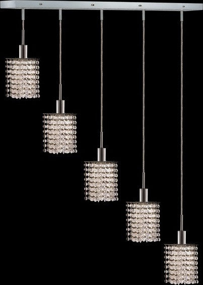 ZC121-1285D-O-P-CL/EC By Regency Lighting Mini Collection 5 Lights Pendant Chrome Finish