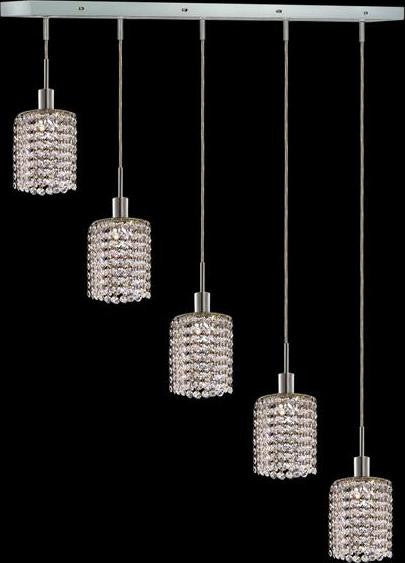 C121-1285D-O-R-CL/RC By Elegant Lighting Mini Collection 5 Lights Pendant Chrome Finish