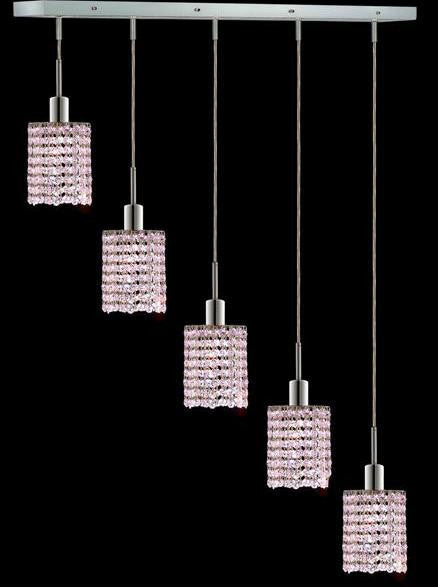 C121-1285D-O-R-RO/RC By Elegant Lighting Mini Collection 5 Lights Pendant Chrome Finish