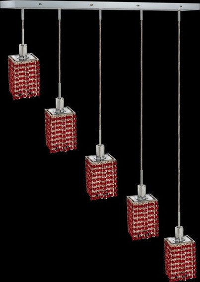 C121-1285D-O-S-BO/RC By Elegant Lighting Mini Collection 5 Lights Pendant Chrome Finish
