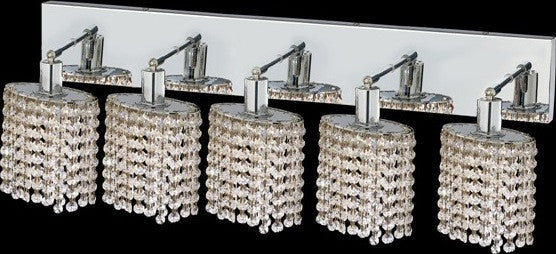 ZC121-1285W-O-E-CL/EC By Regency Lighting Mini Collection 5 Lights Wall Sconce Chrome Finish