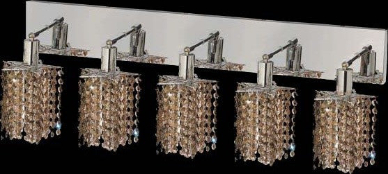 C121-1285W-O-P-GT/RC By Elegant Lighting Mini Collection 5 Lights Wall Sconce Chrome Finish
